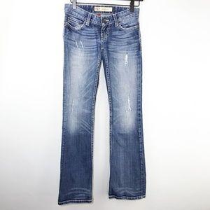 BKE Denim Stella Boot Jeans Distressed Sz 23